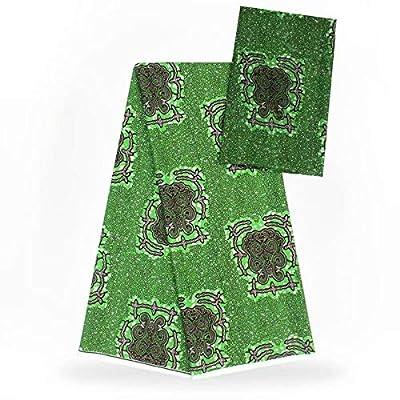 Chiffon Fabric   Imitated Silk Wax Black and White Silk Chiffon Fabric African Fabric Ankara African Wax Prints Fabric 5+2Yards   by BINOCA