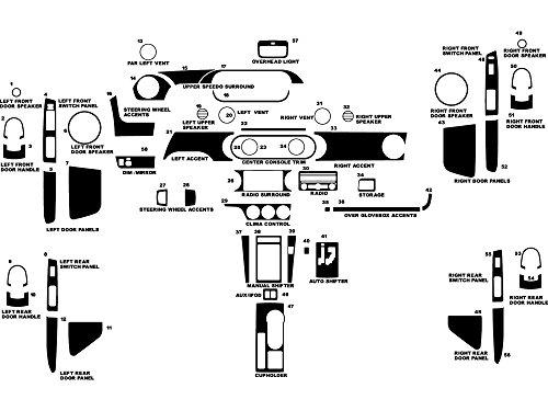 Rdash Dash Kit Decal Trim for Scion xB 2008-2015 - Carbon Fiber 3D (Black)