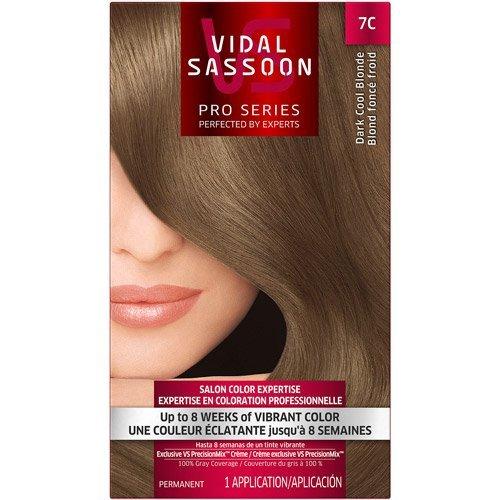 Vidal Sassoon Pro Series Hair Color, 7C Dark Cool Blonde (2 Kits)