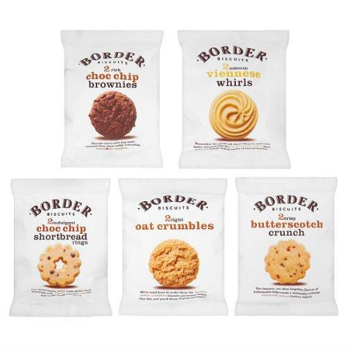 Border Biscuits 100 Luxury Mini Packs 5 Varieties Case Of 100