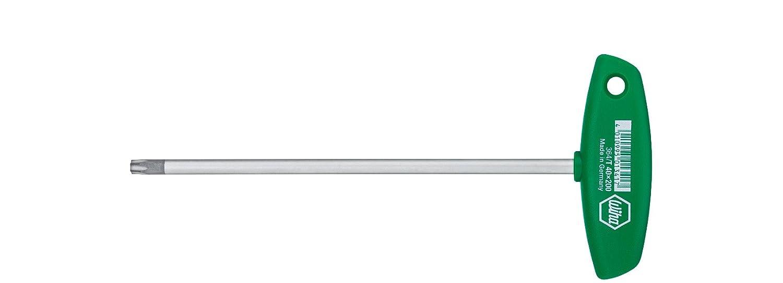 Wiha Stiftschlü ssel mit Quergriff TORX mattverchromt (01328) T9 x 100 mm Wiha Werkzeuge GmbH 364009100