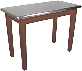 """product image for John Boos 48"""" W x 30"""" D Cucina Moderno Table - Stainless Steel Top, Maple Base Stained Walnut"""