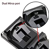 ADVcer Dual PS4 Controller Charger, Dual USB Charging Docking Station / Storage Vertical Stand for DualShock 4 Gamepad of SONY Playstation 4 Pro 4 Slim 4