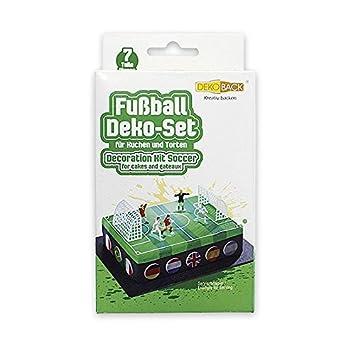 Close Up 7 Teiliges Kuchen Deko Set Fur Fussball Torten