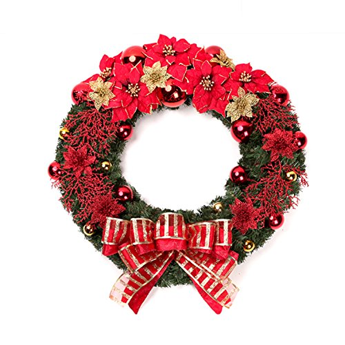 Christmas Garland for Stairs fireplaces Christmas Garland Decoration Xmas Festive Wreath Garland with Christmas wreath Christmas Tree Christmas,60cm