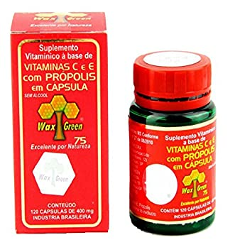 Wax Green Bee Propolis with Vitamine C+E 400mg 120Capsules