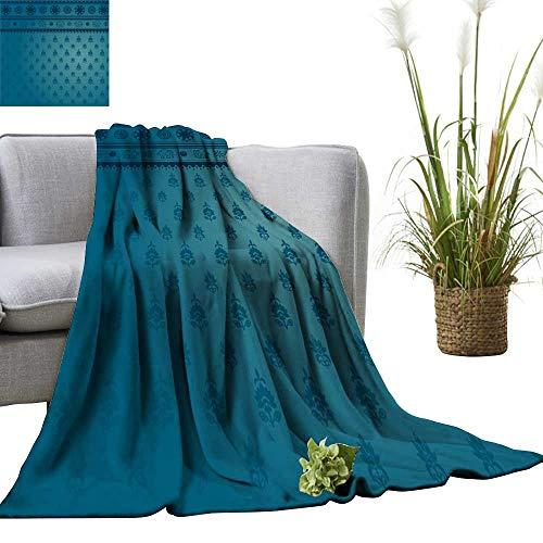YOYI Bed Blanket Blue Sari Background Comfortable Home Decor 30