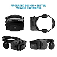 3D Light-Weight Virtual Reality Headset with Builted-in Stereo Headphone by StarryBay