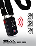 Nulock Keyless Bluetooth Bike/Motorcycle/Gate Alarmed Smart Lock IP44 Splash-Proof Cycling Lock with 110db Alarm, 0.38'' Diameter 31-inch Fabric Covered Chain