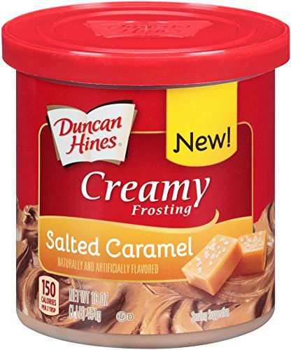 Duncan Hines Creamy Frosting, Salted Caramel, 16 Ounce (Pack of 8) (Best Salted Caramel Frosting)