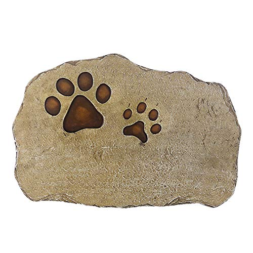 somiss Pet Memorial Stones,Personalized Dog Memorial Stones All Content is Customizable, Pet's Name & Born Passed Dates & One Sentence, Paw Prints Pet Loss Gift (Dog Personalized Memorial Stones)