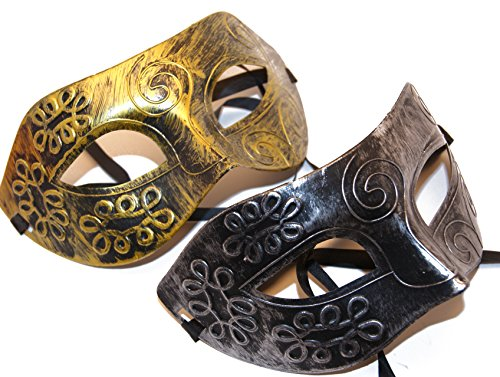 Black/Silver and Gold His and Her Mystery/ Party Mask/ Mardi Gras or Halloween Masks