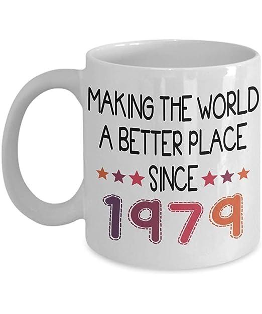 Taza de café feliz cumpleaños de los 40 años de 1979-40.o ...