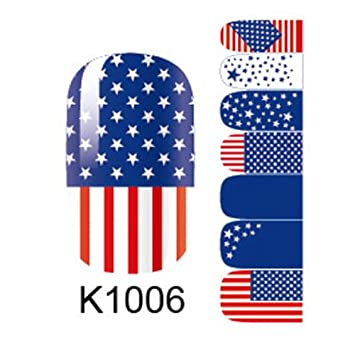 American flag nail art sticker 3d design nail polish stickers ddstore