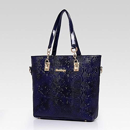 main Sequin De Blue Main Set Purse QZTG Bags Fourre Coffee Set Bleu à Capacité Special À Material sac Sacs Pieces Grande Tout Women's 6 Bag Red Zipper EqWg7O6qR