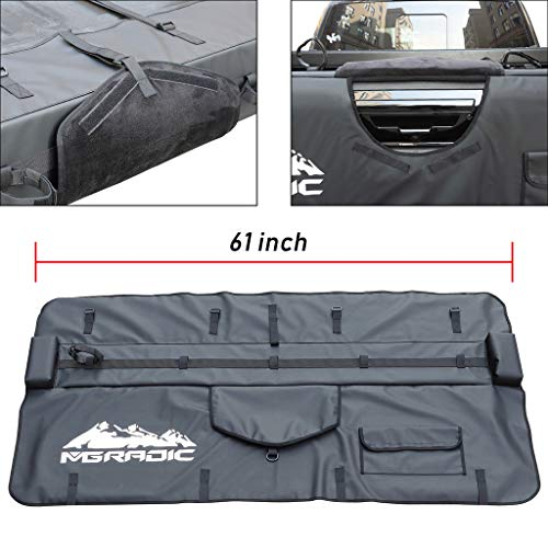 BreaBP 61″ Truck Tailgate Pad Shuttle Pad 5 Bikes for Middle&Large Pickup Truck w/Bag