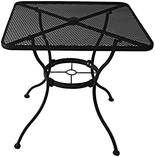 Awesome Heavy Duty Steel Frame with Black Powder Coated Finish Square Bistro Restaurant Patio Outdoor