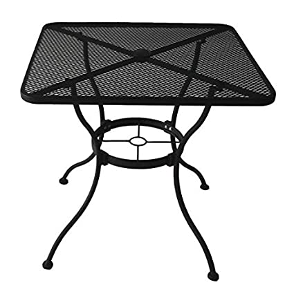 Amazoncom HeavyDuty Steel Frame With Black PowderCoated Finish - White outdoor dining table with umbrella hole