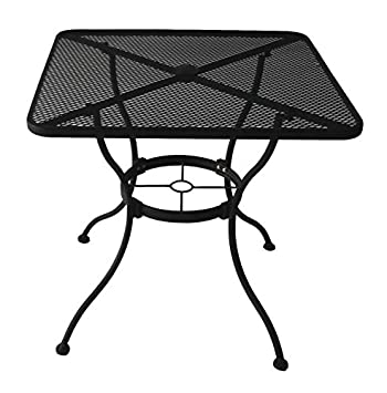 Heavy Duty Steel Frame With Black Powder Coated Finish Square Bistro Restaurant  Patio Outdoor