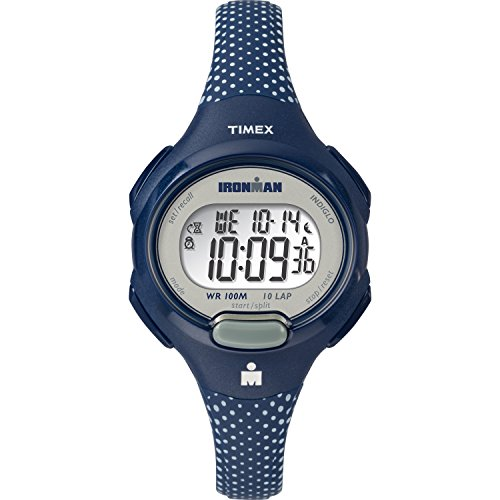 700 Ironman Essential 10 Blue/White Dots Resin Strap Watch (Resin Dot)