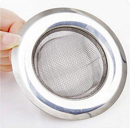 Skywalk Stainless Steel Strainer Kitchen Drain Basin Basket Filter Stopper Drainer Sink Jali, 9 cm