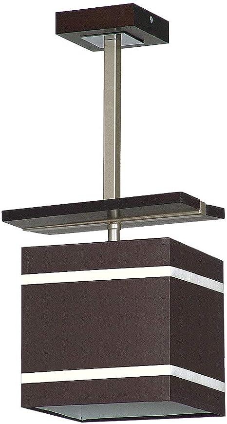 Lámpara de techo en color marrón, diseño Chom Bauhaus 1 x E27 hasta 60 W 230 V de plástico y metal para cocina, comedor, iluminación interior: Amazon.es: Iluminación