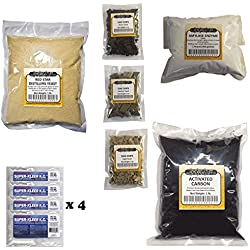 Deluxe Distillers Moonshine Essentials Refill kit (DADY) Dry Active Distillers Yeast, Carbon, Oak, Amylase, and Clarifying Agent