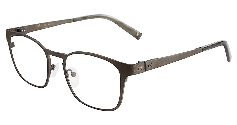 579b3467bce Amazon.com  John Varvatos V156 Mens Eyeglasses Gunmetal 51mm  Clothing