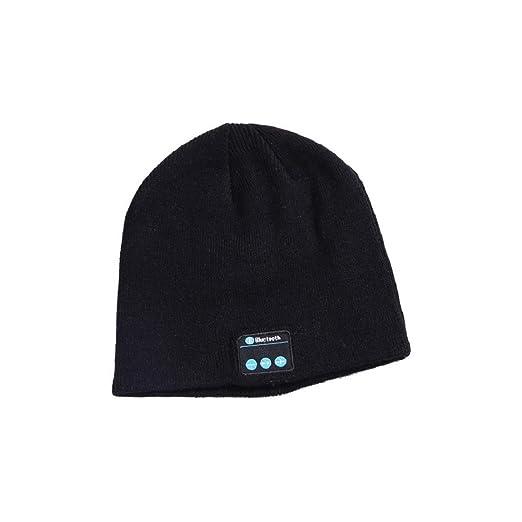 Amazon.com  HULKAY Bluetooth Music Beanie Hat with Control Panel ... 653f7c21bd2