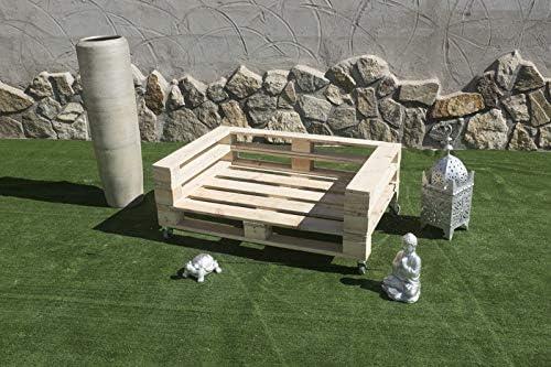 Sofa con PALETS Europeos con Ruedas Nuevo A ESTRENAR,Interior/Exterior AL Natural: Amazon.es: Hogar