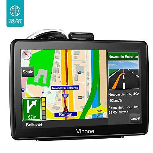 GPS Navigation for Car, 7 inch 8GB&256MB GPS Navigation System,Spoken Turn- to-Turn Traffic Alert Vehicle Car GPS Navigator,Lifetime Free Map Updates (Q) (Q) (Q)