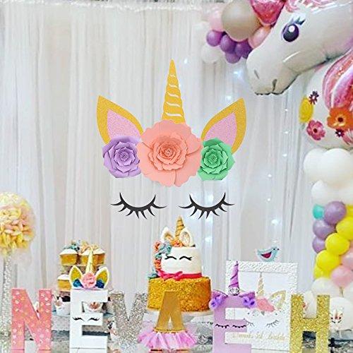 Yaaaaasss Unicorn Backdrop Party Wall Decorations Large Horn