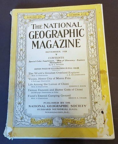 National Geographic Magazine, November 1928