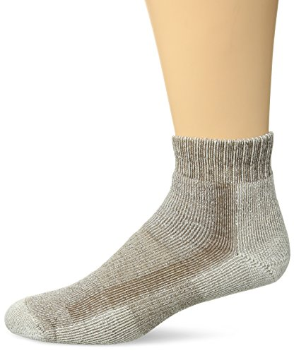 Thorlos Unisex LTHMX Light Hiking Thick Padded Ankle Sock, Walnut, - Coolmax Mini Thorlo