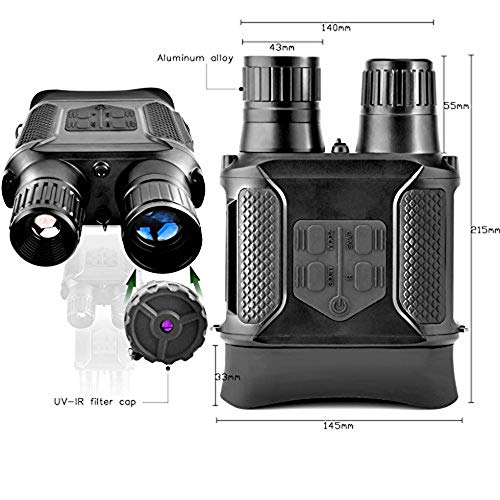Digital Night Vision Binoculars 7x31mm-400m/1300ft Viewing Range and Super Large 4'' Viewing Screen Infrared Scope in Full Dark