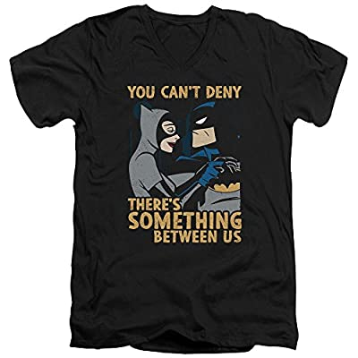 Batman The Animated Series Between Us Mens V-Neck Shirt Black Lg