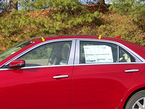 QAA FITS CTS 2014-2019 CADILLAC (4 Pc: Stainless Steel Window Trim Package Upper Trim only, NO pillar trim, 4-door) WP54251 ()