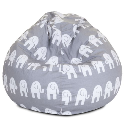 Majestic Home Goods Bean Bag, Gray Ellie