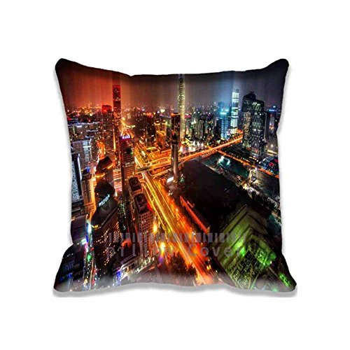 Personalized Downtown Beijing After Rain Chair Cushion Covers with Zippers ; Sweet Home Decor Asia Unique Pillow Cases for Sofa , Chair