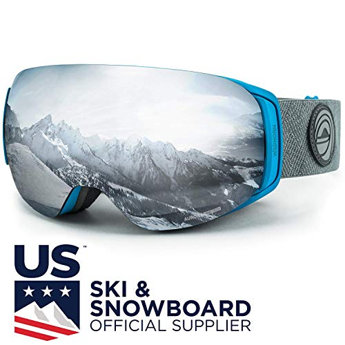 (WildHorn Outfitters Roca Ski Goggles & Snowboard Goggles- Premium Snow Goggles for Men, Women and Kids. Features Quick Change Magnetic Lens System with Integrated Clip)