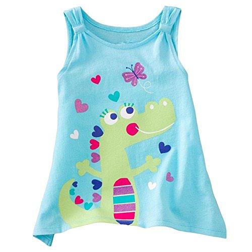 Baby Box Little Girls' kids Toddler Sleeveless Tank T-Shirts Size 3T