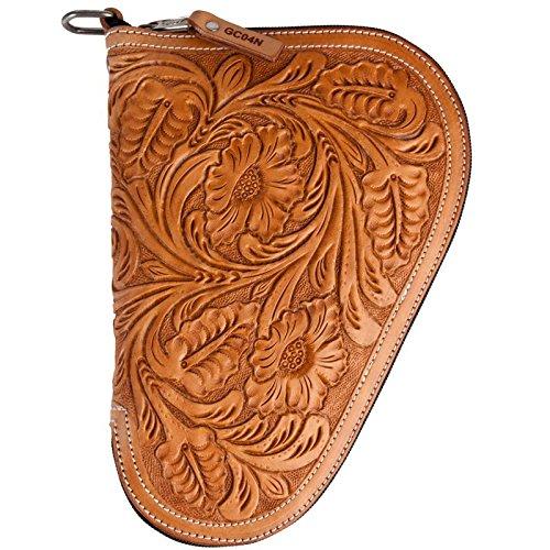 Ranger Belt Brand Carved Floral Light Oil Brown Gun Case (GC04N)