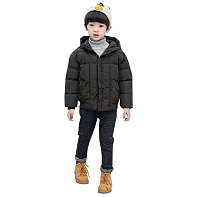 Amazon.com: Wesracia Kids Girls Boys Solid Winter Thick Hooded Warm Coat Jacket Clothes: Clothing