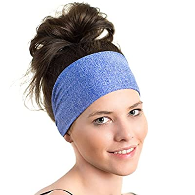 Lightweight Sports Headband - Non Slip Moisture Wicking Sweatband - Ideal for Running, Biking and Athletic workouts - Designed for Women Borrowed by Men