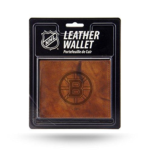 Rico NHL Boston Bruins Embossed Leather Billfold Wallet with Man Made Interior