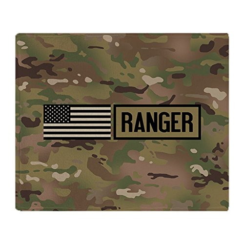 CafePress U.S. Army: Ranger (Camo) Soft Fleece Throw Blanket, 50