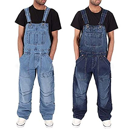 Mymyguoe Pantalones Vaqueros de Moda para Hombre Mono ...