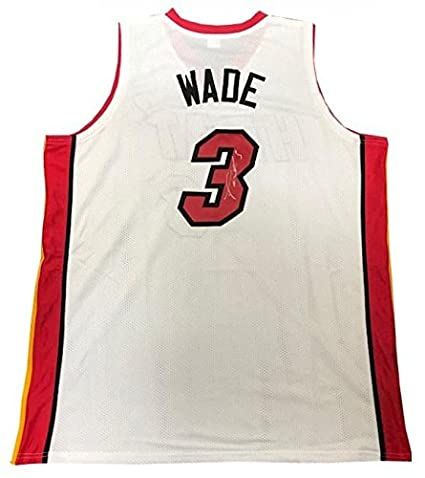c792a0b69 Image Unavailable. Image not available for. Color  Signed Dwyane Wade Jersey  - White Custom - Autographed NBA Jerseys