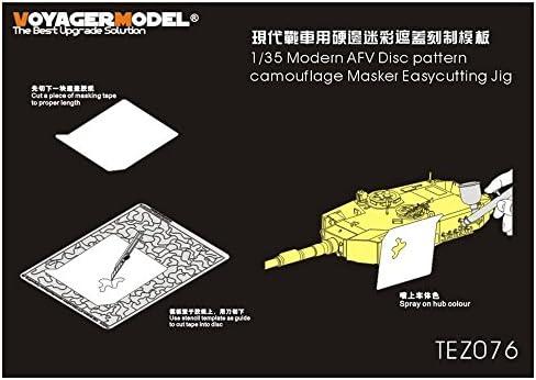 ボイジャーモデル 1/35 現用AFV ディスクパターン迷彩 マスク製作ジグ 汎用 プラモデル用ツール TEZ076