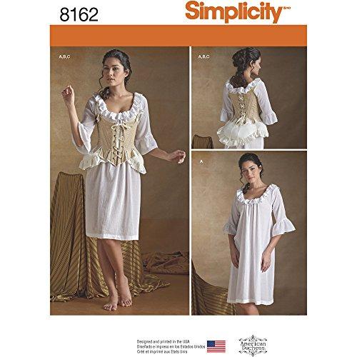 Simplicity Creative Patterns 8162 Misses' 18th Century Undergarments, H5 (6-8-10-12-14) - Diy Corset Costume